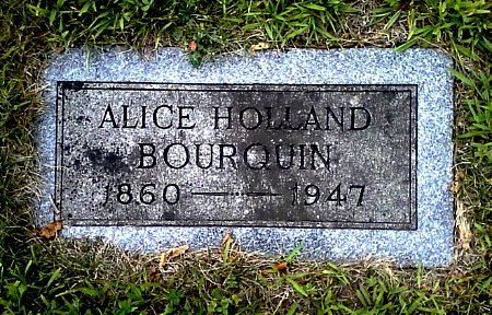 HOLLAND BOURQUIN, ALICE - Black Hawk County, Iowa | ALICE HOLLAND BOURQUIN