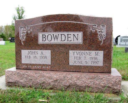 BOWDEN, JOHN A. - Black Hawk County, Iowa   JOHN A. BOWDEN