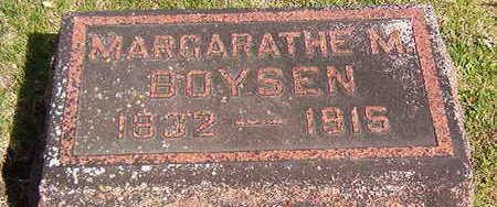 BOYSEN, MARGARATHE M - Black Hawk County, Iowa   MARGARATHE M BOYSEN