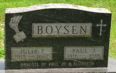 BOYSEN, JULIA E. - Black Hawk County, Iowa   JULIA E. BOYSEN
