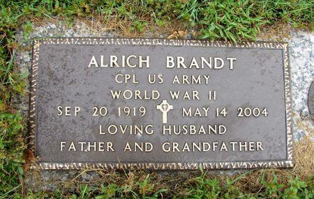 BRANDT, ALRICH - Black Hawk County, Iowa   ALRICH BRANDT