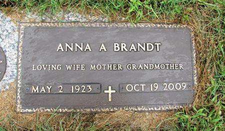 BRANDT, ANNA A. - Black Hawk County, Iowa   ANNA A. BRANDT