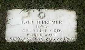 BREMER, PAUL H. - Black Hawk County, Iowa | PAUL H. BREMER