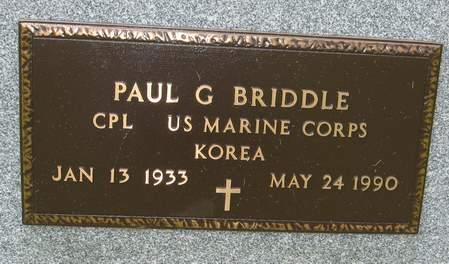 BRIDDLE, PAUL G. (MILITARY) - Black Hawk County, Iowa | PAUL G. (MILITARY) BRIDDLE