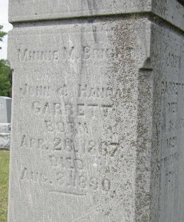 GARRETT BRIGHT, MINNIE M. - Black Hawk County, Iowa | MINNIE M. GARRETT BRIGHT