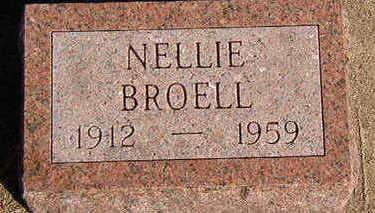BROELL, NELLIE - Black Hawk County, Iowa | NELLIE BROELL