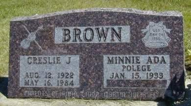 BROWN, CRESLIE J. - Black Hawk County, Iowa | CRESLIE J. BROWN