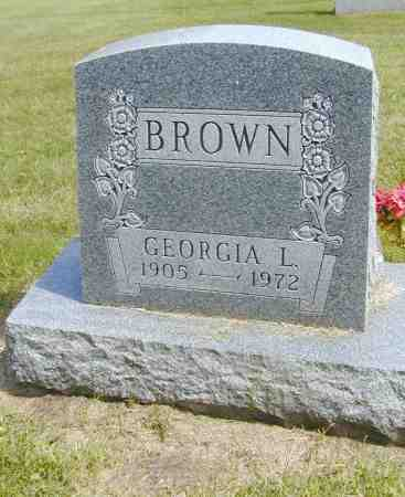 BROWN, GEORGIA L. - Black Hawk County, Iowa   GEORGIA L. BROWN
