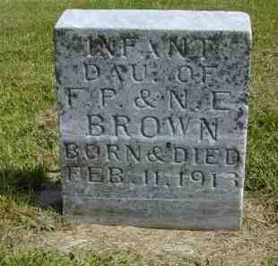 BROWN, INFANT DAUGHTER - Black Hawk County, Iowa   INFANT DAUGHTER BROWN