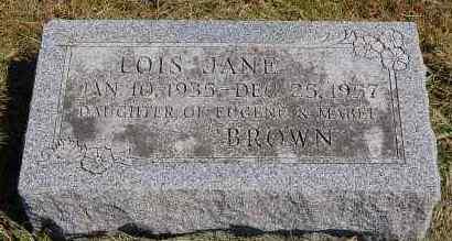 BROWN, LOIS JANE - Black Hawk County, Iowa | LOIS JANE BROWN