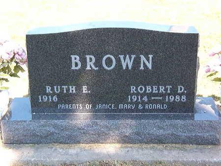 BROWN, RUTH E. - Black Hawk County, Iowa   RUTH E. BROWN