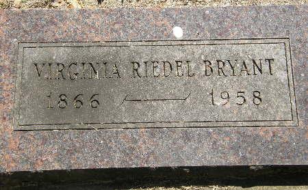 RIEDEL BRYANT, VIRGINIA - Black Hawk County, Iowa | VIRGINIA RIEDEL BRYANT