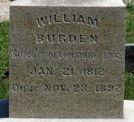 BURDEN, WILLIAM - Black Hawk County, Iowa | WILLIAM BURDEN