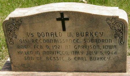 BURKEY, DONALD W. - Black Hawk County, Iowa | DONALD W. BURKEY