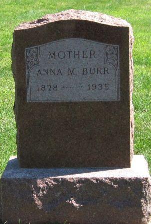 BURR, ANNA M. - Black Hawk County, Iowa | ANNA M. BURR