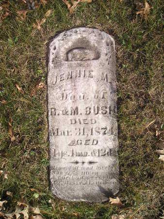 BUSH, JENNIE M - Black Hawk County, Iowa | JENNIE M BUSH