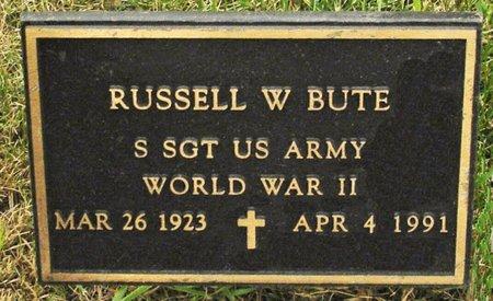 BUTE, RUSSELL W. - Black Hawk County, Iowa | RUSSELL W. BUTE