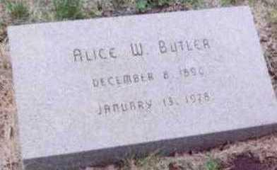 BUTLER, ALICE W. - Black Hawk County, Iowa   ALICE W. BUTLER