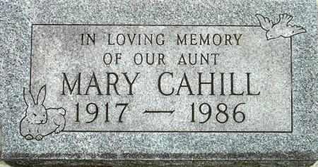 CAHILL, MARY - Black Hawk County, Iowa | MARY CAHILL