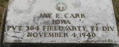 CARR, JAY E. - Black Hawk County, Iowa | JAY E. CARR