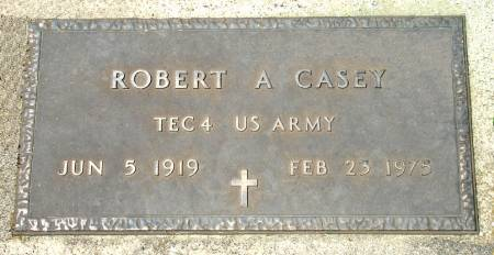 CASEY - U. S. ARMY, ROBERT A. - Black Hawk County, Iowa | ROBERT A. CASEY - U. S. ARMY