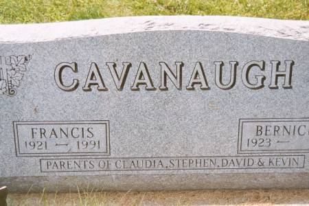 CAVANAUGH, FRANCIS - Black Hawk County, Iowa | FRANCIS CAVANAUGH
