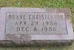 CHRISTENSEN, DUANE - Black Hawk County, Iowa | DUANE CHRISTENSEN