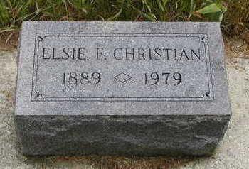 CHRISTIAN, ELSIE F. - Black Hawk County, Iowa | ELSIE F. CHRISTIAN