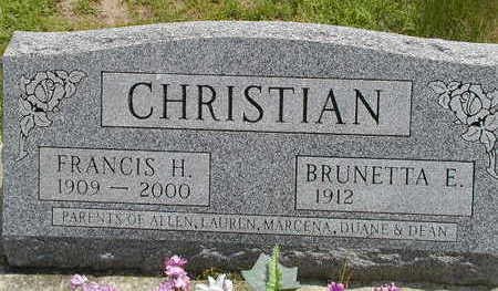 CHRISTIAN, FRANCIS H. - Black Hawk County, Iowa | FRANCIS H. CHRISTIAN