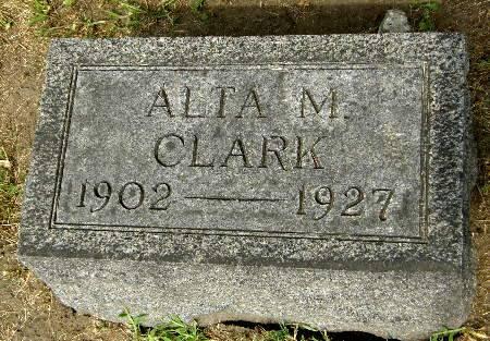 CLARK, ALTA M. - Black Hawk County, Iowa   ALTA M. CLARK