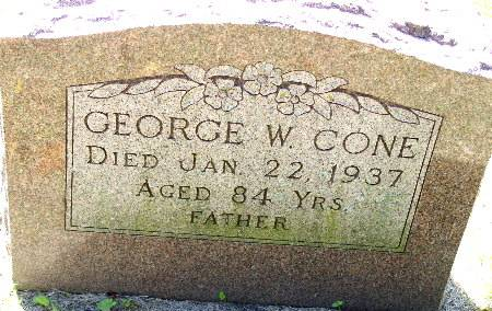 CONE, GEORGE W. - Black Hawk County, Iowa | GEORGE W. CONE
