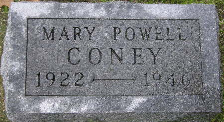 CONEY, MARY - Black Hawk County, Iowa | MARY CONEY