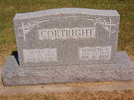 CORTRIGHT, MARY E. - Black Hawk County, Iowa   MARY E. CORTRIGHT