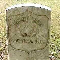 COX, ACTON - Black Hawk County, Iowa | ACTON COX