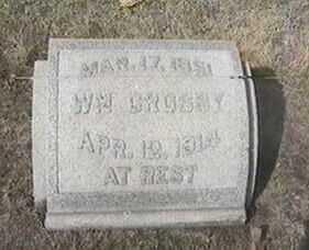 CROSBY, WM. - Black Hawk County, Iowa | WM. CROSBY