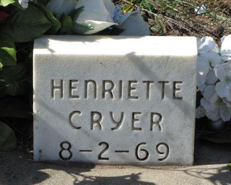 CRYER, HENRIETTE - Black Hawk County, Iowa | HENRIETTE CRYER