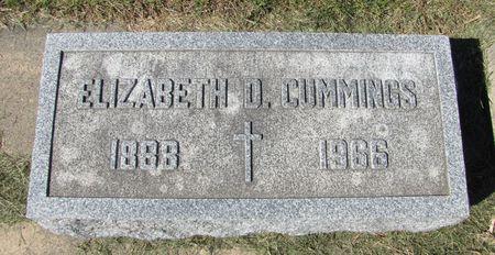 CUMMINGS, ELIZABETH D. - Black Hawk County, Iowa   ELIZABETH D. CUMMINGS