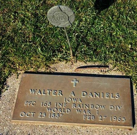 DANIELS, WALTER A. - Black Hawk County, Iowa   WALTER A. DANIELS