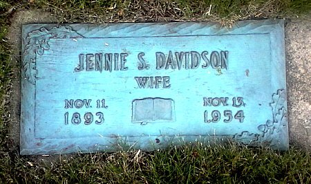 DAVIDSON, JENNIE S. - Black Hawk County, Iowa | JENNIE S. DAVIDSON