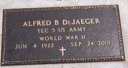 DE JAEGER, ALFRED B. - Black Hawk County, Iowa | ALFRED B. DE JAEGER