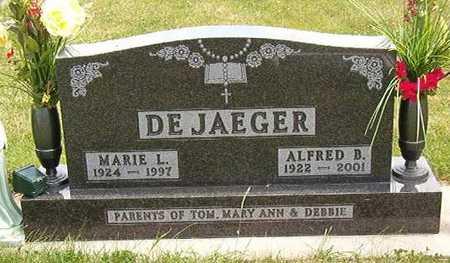 DE JAEGER, MARIE L. - Black Hawk County, Iowa   MARIE L. DE JAEGER