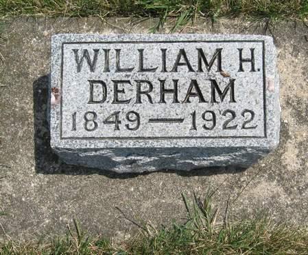 DERHAM, WILLIAM H. - Black Hawk County, Iowa   WILLIAM H. DERHAM