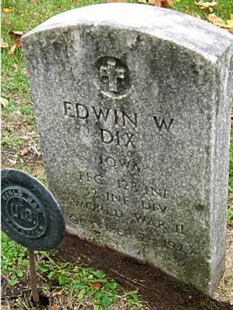 DIX, EDWIN W. - Black Hawk County, Iowa | EDWIN W. DIX