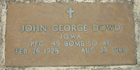 DOWD, JOHN GEORGE - Black Hawk County, Iowa | JOHN GEORGE DOWD