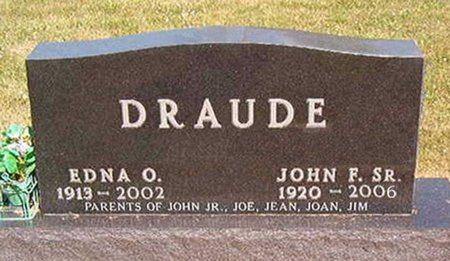 DRAUDE, EDNA OTILLA - Black Hawk County, Iowa | EDNA OTILLA DRAUDE
