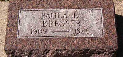 DRESSER, PAULA L. - Black Hawk County, Iowa   PAULA L. DRESSER