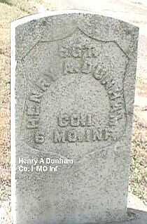 DUNHAM, HENRY A. - Black Hawk County, Iowa   HENRY A. DUNHAM