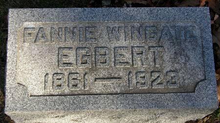 WINGATE EGBERT, FANNIE - Black Hawk County, Iowa   FANNIE WINGATE EGBERT