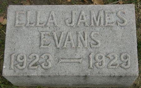 EVANS, ELLA JAMES - Black Hawk County, Iowa | ELLA JAMES EVANS