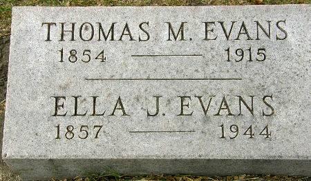 EVANS, ELLA J. - Black Hawk County, Iowa | ELLA J. EVANS